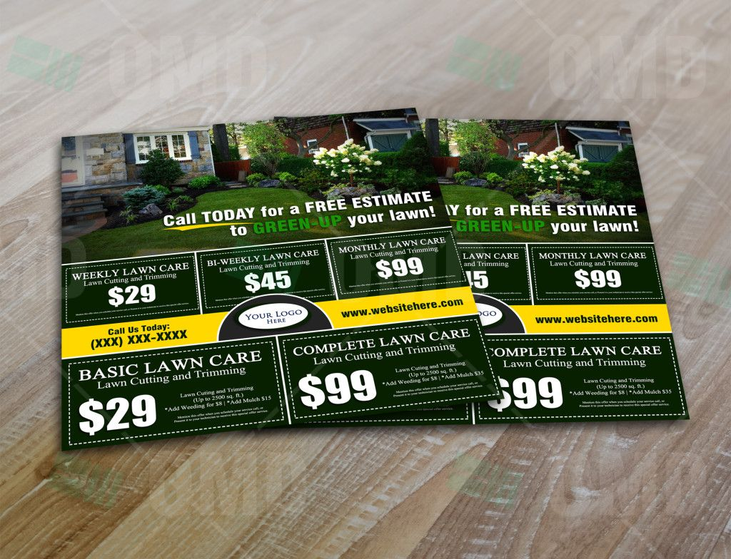 Lawn Care Marketing Postcard 3 Lawn care, Marketing