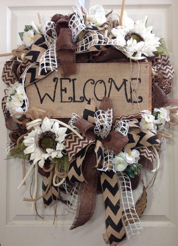 Enfeite De Outono ~ Pin do(a) Judy Koch em Wreaths Pinterest Guirlandas, Enfeites e Faça voc u00ea mesmo