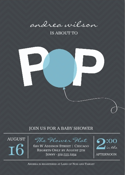 Cool baby shower invitations for parents not so into the traditional