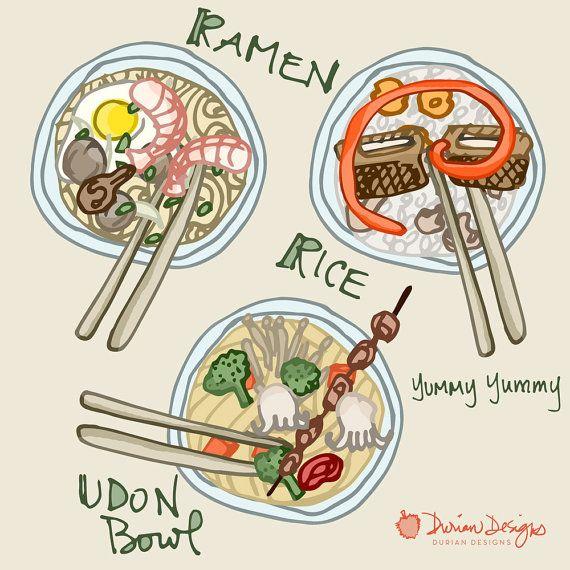 Design your own noodle bowl clip art, commercial use, ramen, udon ...