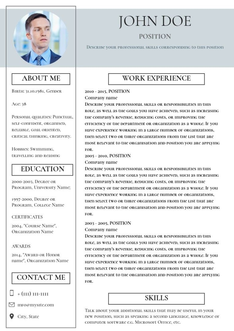 Project manager resume sample in 2020 Project manager