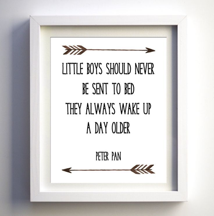 Little Boys Should Never Be Sent To Bed Baby Boy Print Room Artwork