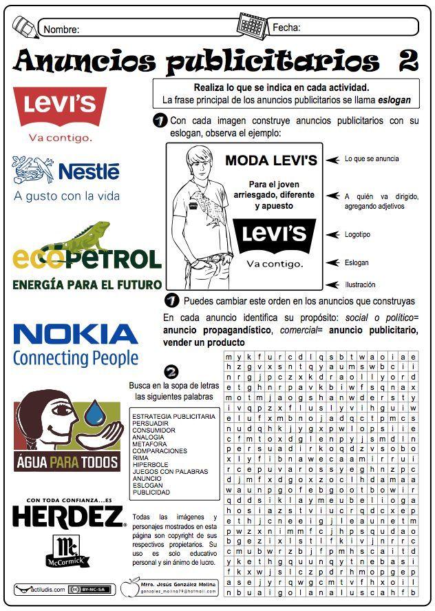 anuncios acompañantes lengua