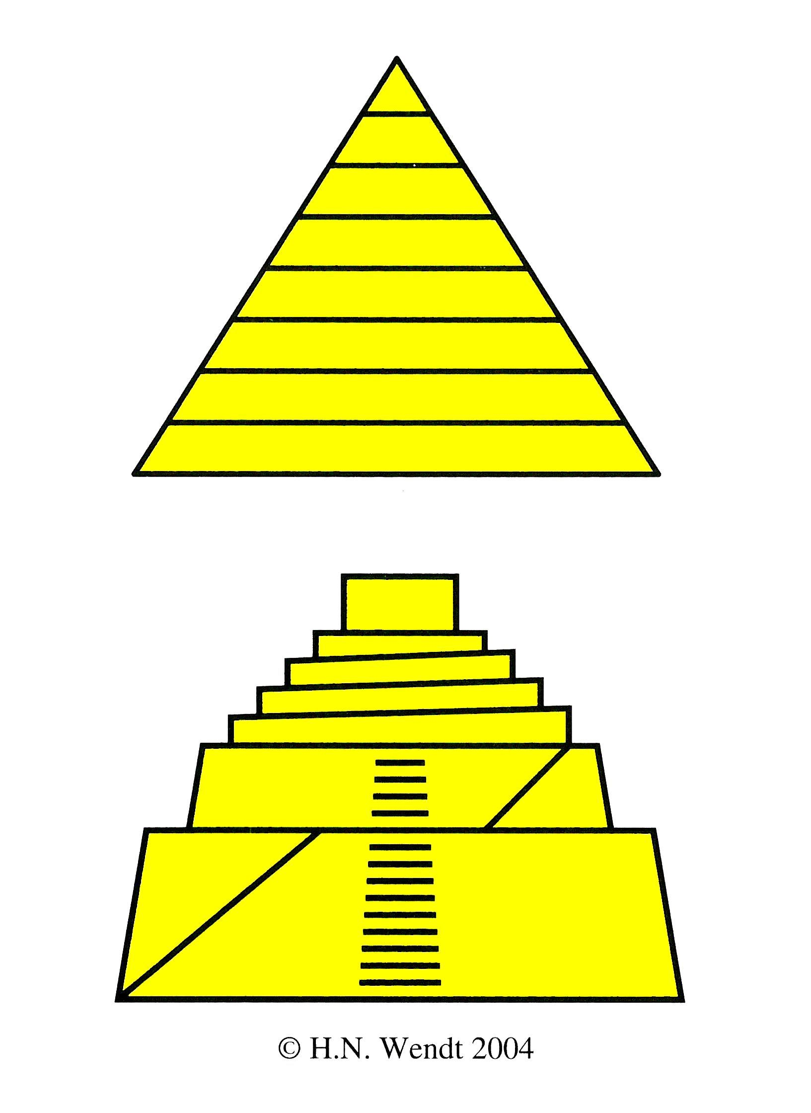 Pyramid and Ziggurat: Pyramids served as tombs in which