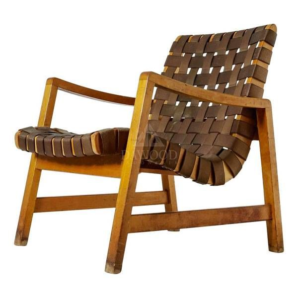 Quality Furniture Makers: Teak Lounge Leather Weaving Chair In 2019