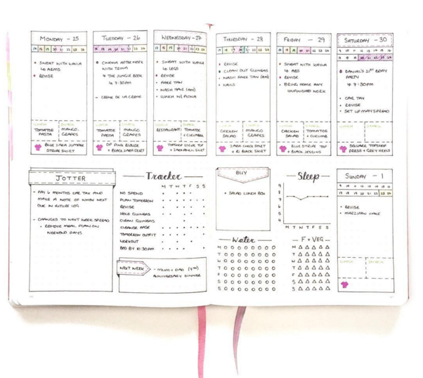 Weekly Spread Ideas For Your Bullet Journal  ChristinaStar