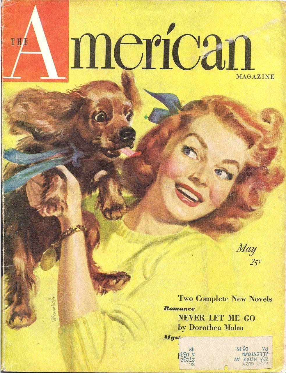 American art loving pup vintage original magazine cover