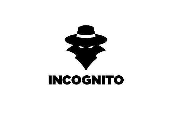 incognito spy silhouette logo graphic design logo incognito book logo pinterest