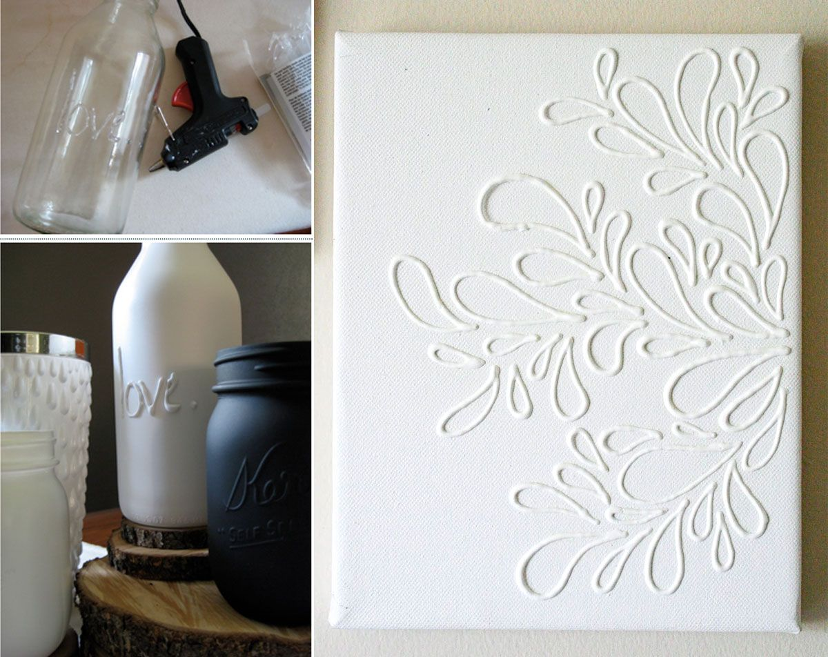 DIY of the day: glue art | colle chaude | Pinterest ...