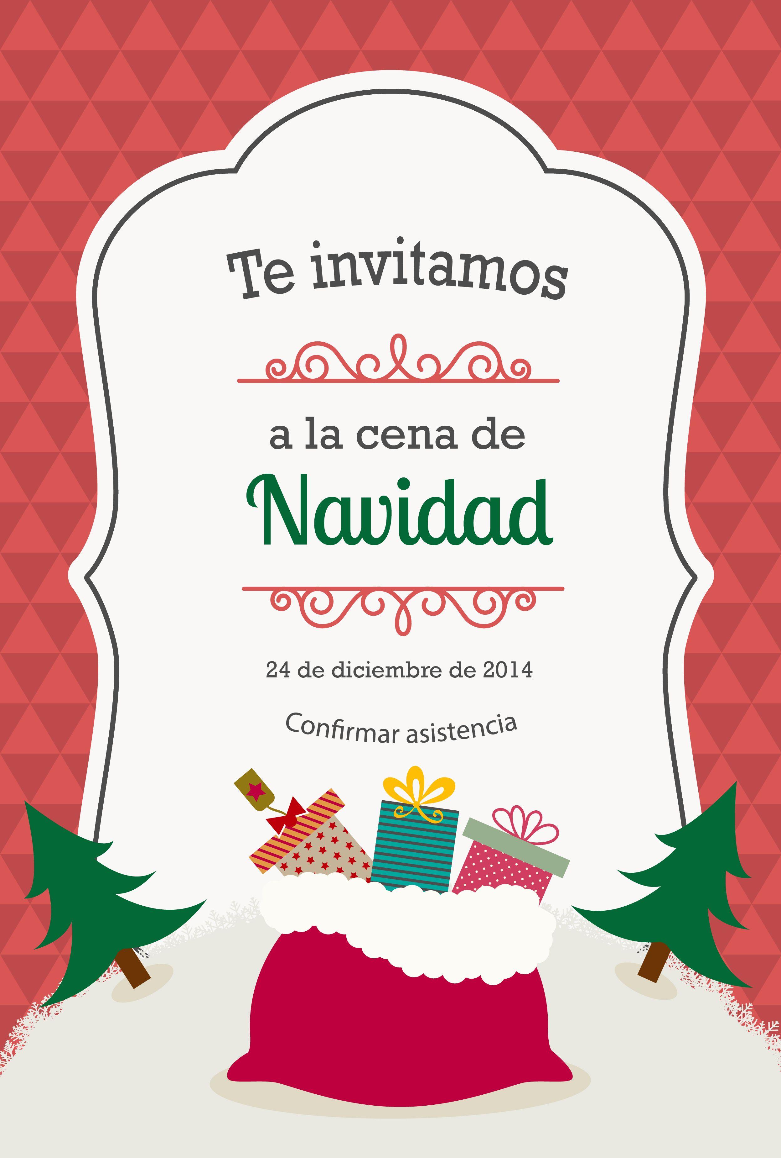Invitación Navideña Tarjetas De Invitacion Navideñas