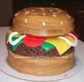 HAMBURGER BIRTHDAY CAKE