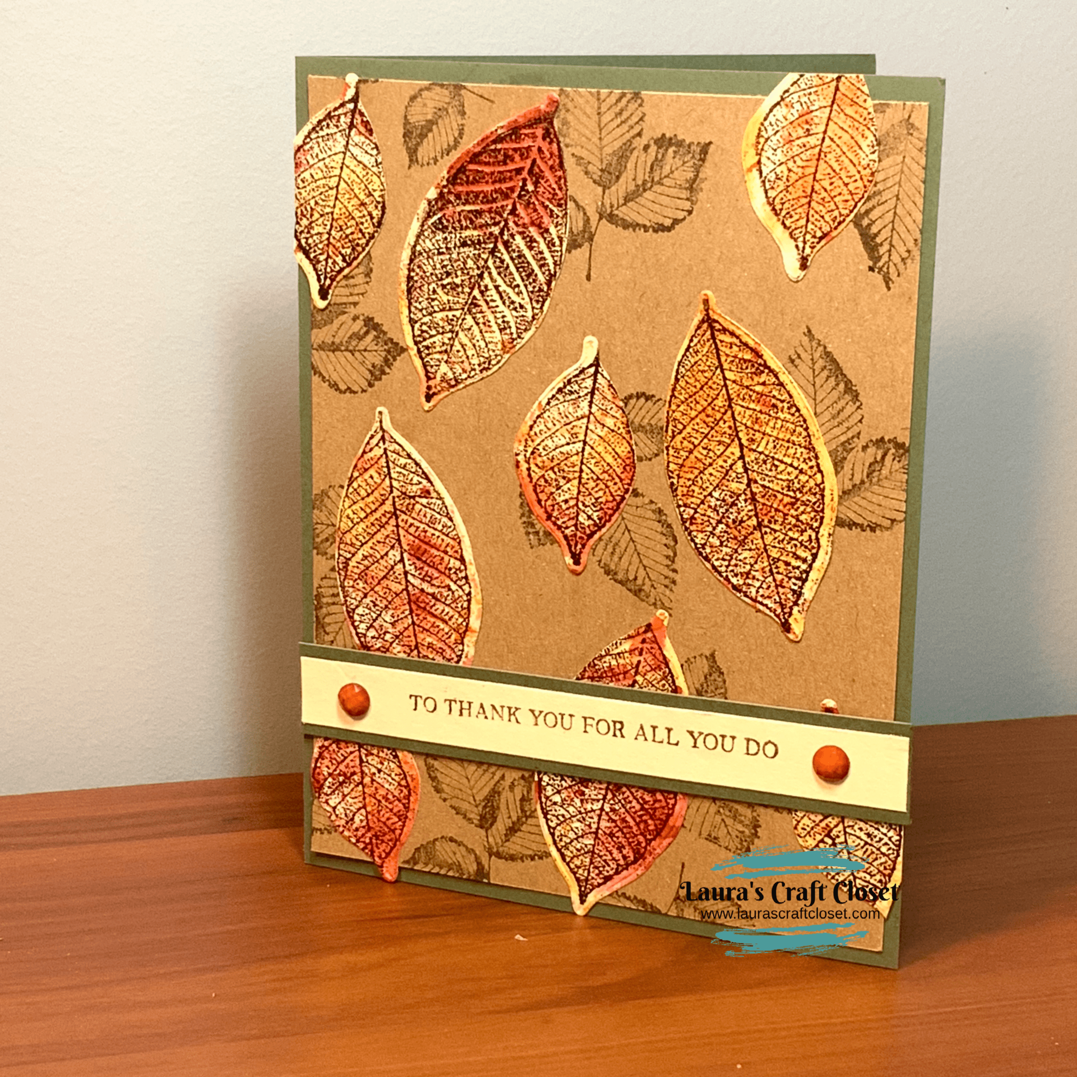 Watercolor Smooching Falling Leaves Card Laura S Craft Closet Leaf Cards Autumn Leaves Crafts