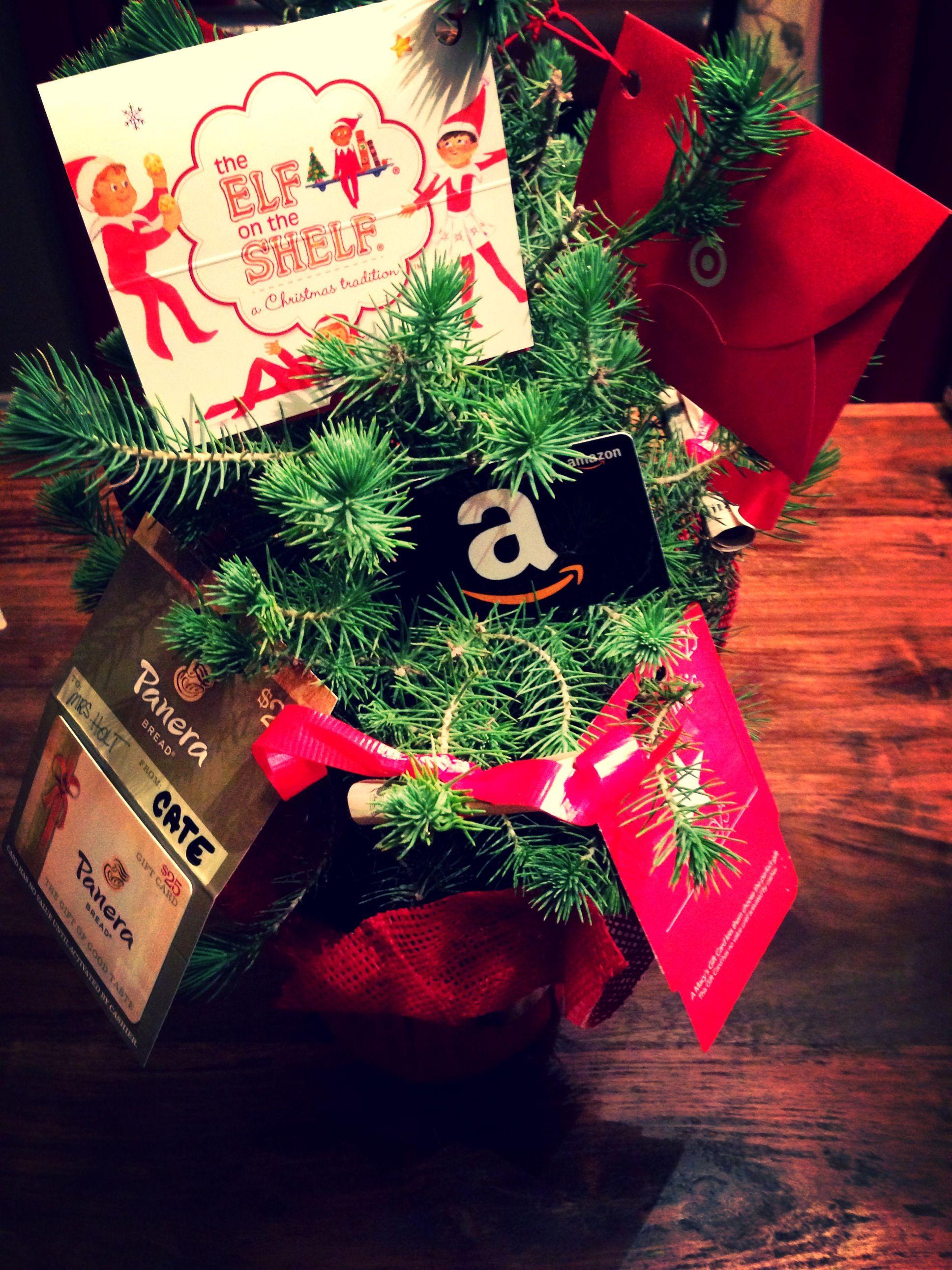 Holiday moneygift card tree for class teacher gift get a rosemary holiday moneygift card tree for class teacher gift get a rosemary tree or negle Gallery