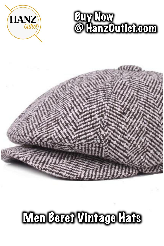 367bf2a07e1 Men beret vintage Herringbone Gatsby Tweed peaky blinders hat Newsboy Beret  Hat spring Flat Peaked Beret