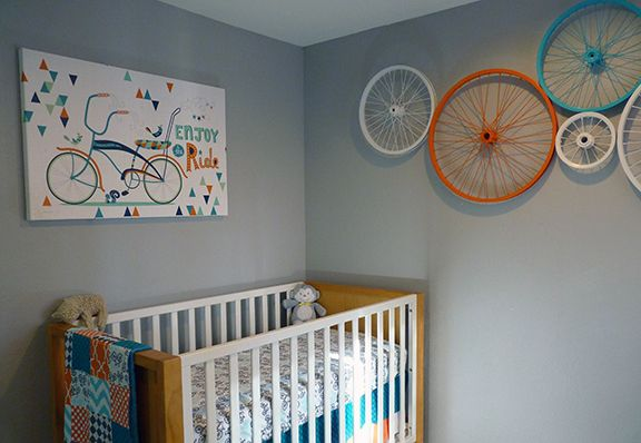 Bicycle Theme I Like The Wheels On The Wall Boy Room