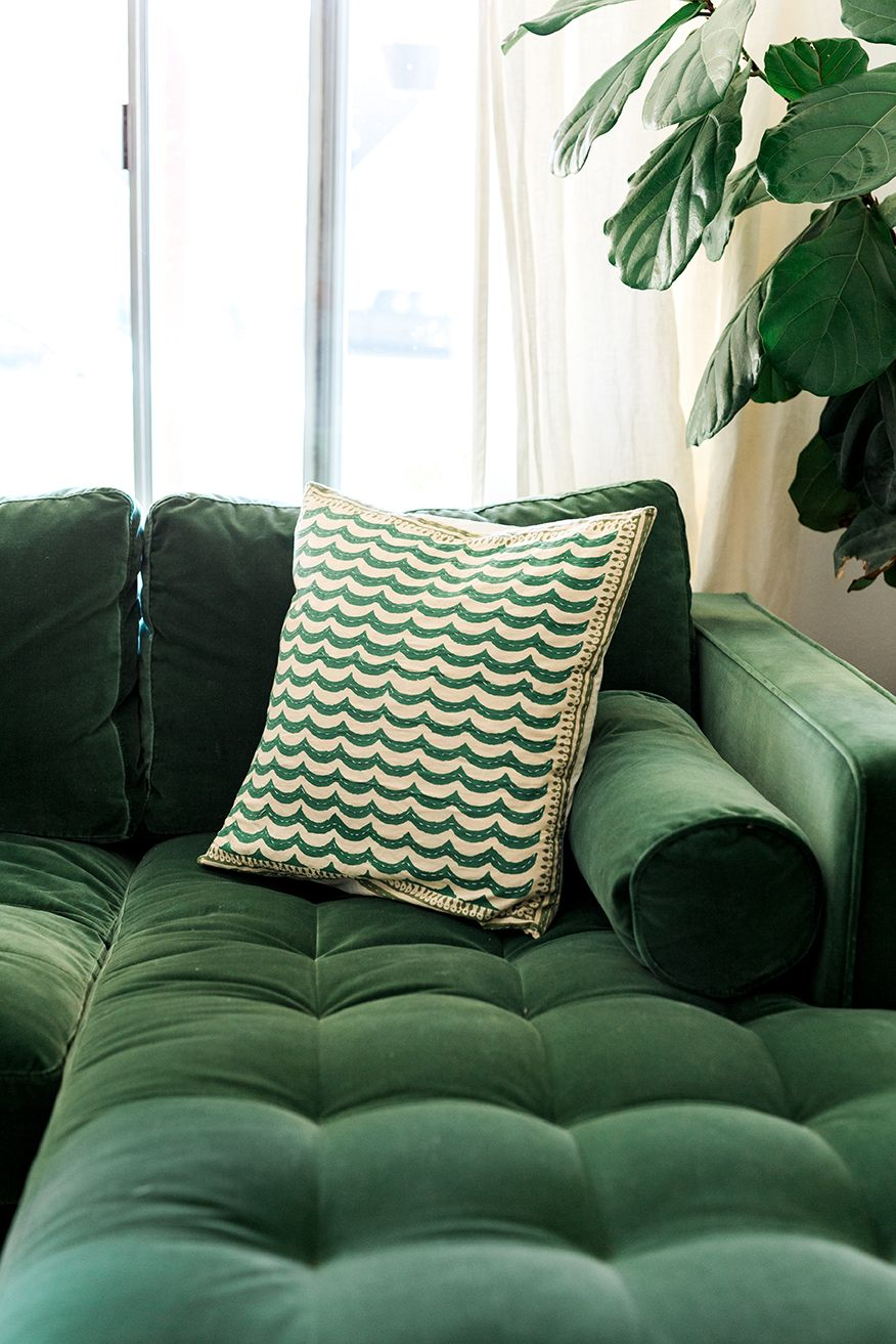 My new green sofa house living rooms and chesterfield sofa