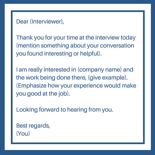 following up on an interview