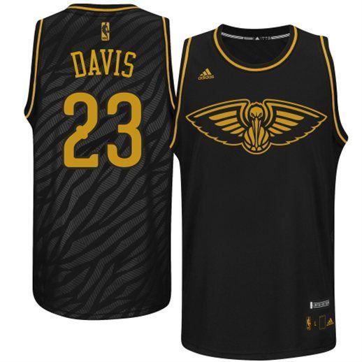 adidas Anthony Davis New Orleans Pelicans Black Basketball Jersey ... f4c72ed58