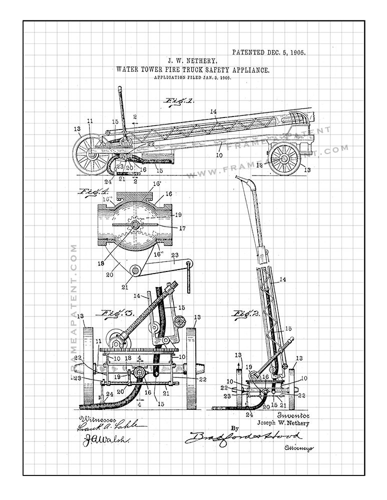 Pin By Frame A Patent On Fireman Patent Prints