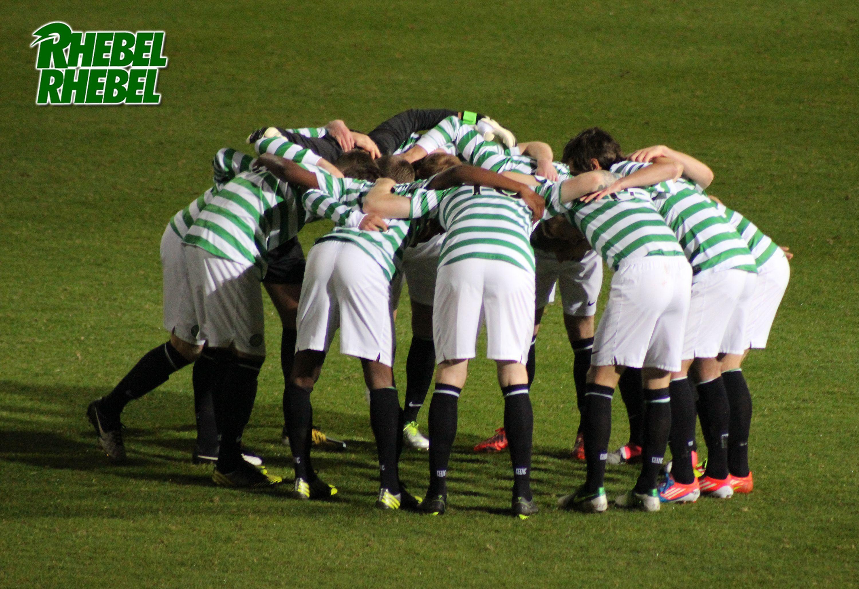 The Celtic Huddle against Aston Villa