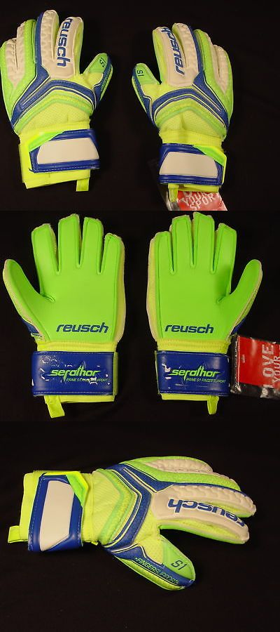3a64b514e Gloves 57277  Reusch Soccer Goalie Gloves Serathor Prime S1 Finger Support  Jr Sz 5