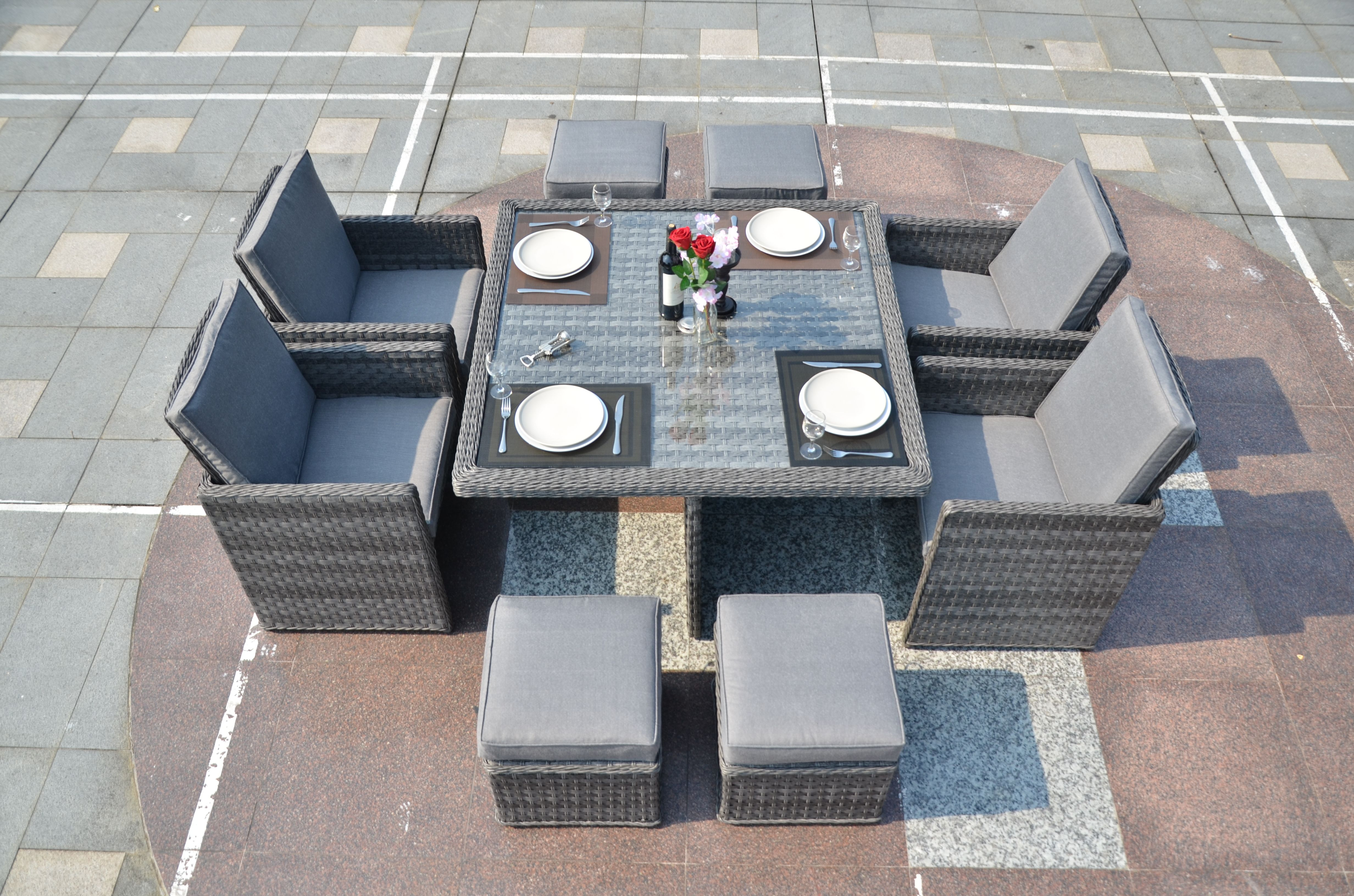 Serena 4 Seat Cube including 4 Footstools + Free Delivery Discount ...