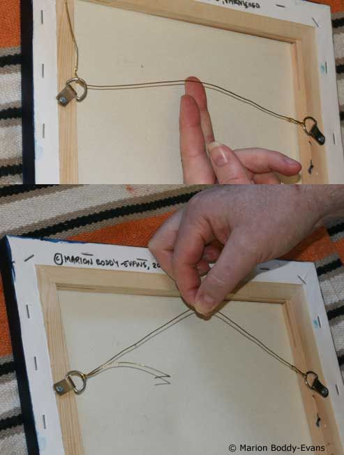 How To Hang Your Painting Using Wire And D Rings