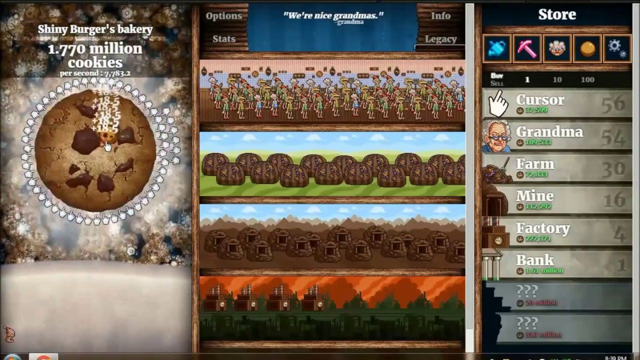 Jugando Cookie Clicker P Playing Cookie Clicker P Years Old - Minecraft clicker spiele
