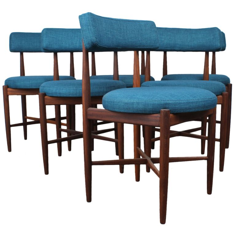 a set of 6 mid century modern dining chairsg-plan | modern