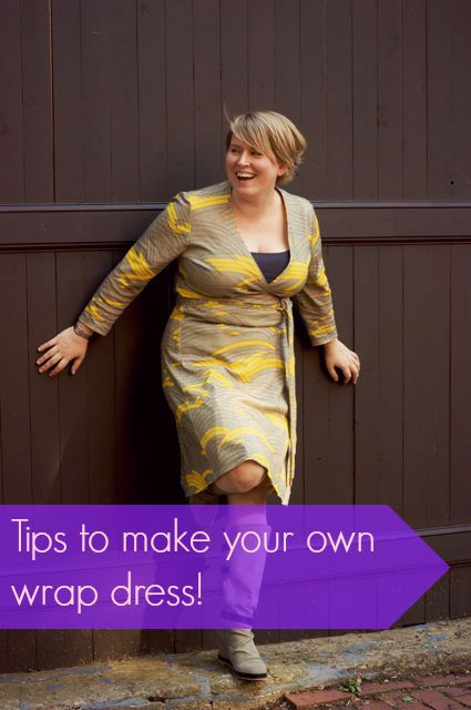 Tips to make your own wrap dress! Cashmerette.  Pattern reviews, where to buy fabrics, sewing tips