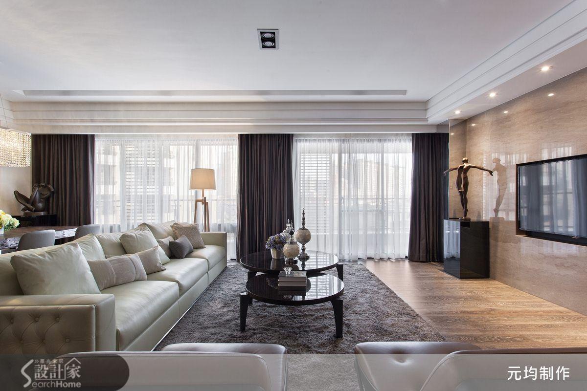 新古典的裝潢圖片為元均制作的設計作品,該設計案例是一間新成屋(5年以下)總坪數為80,格局為四房,更多元均制作設計案例作品都在設計家 Searchome