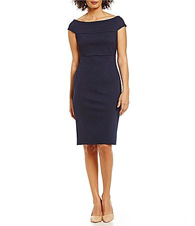 dbcc5dcd56a Adrianna Papell OffTheShoulder Fitted Dress  Dillards