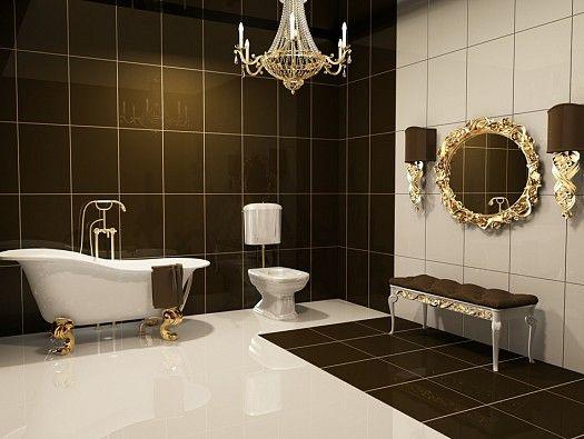 ديكورات حمامات فرنسية التصميم Glamorous Bathroom Luxury Bathroom Trendy Bathroom
