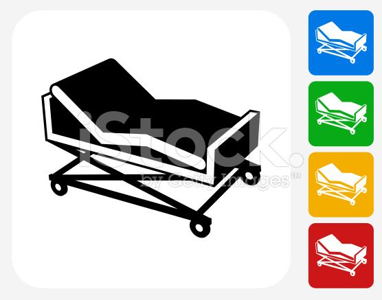 Hospital Bed Icon This 100 Royalty Free Vector Illustration Free Vector Illustration Bed Vector Hospital