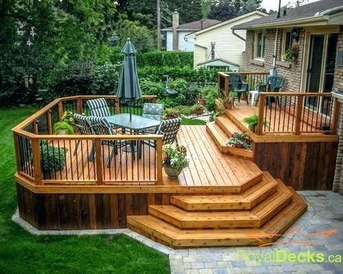 2 Tier Deck Designs Two Tiered Decks Awesome Two Level Deck Designs Ideas Entrance Step Design Deck Designs Backyard Patio Deck Designs Backyard Patio Designs