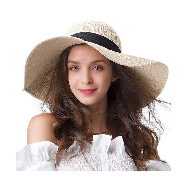 Womens Sun Straw Hat Wide Brim Upf 50 Summer Hat Foldable Roll Up Floppy Beach Hats For Women Webstorewiki