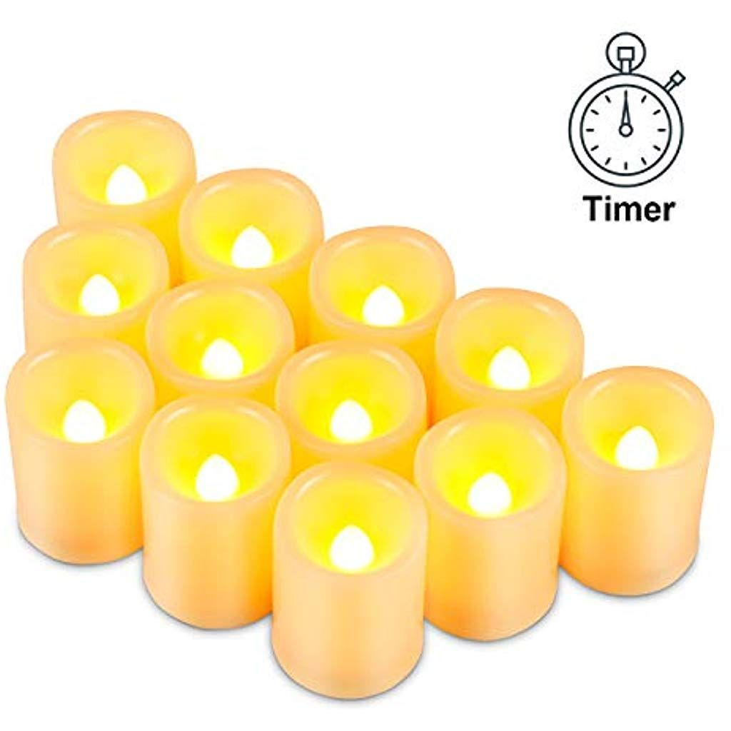 Kohree Led Kerzen 12 Pcs Flammenlose Kerzen Mit Timer Elektrische