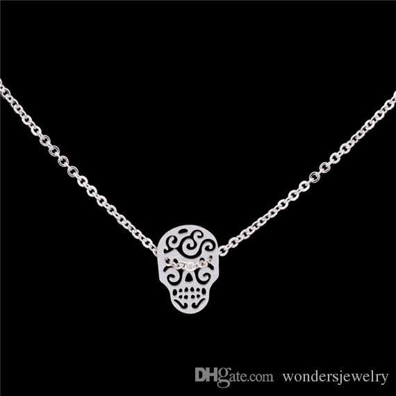 Silver /& Steel Mexican Skull Pendant