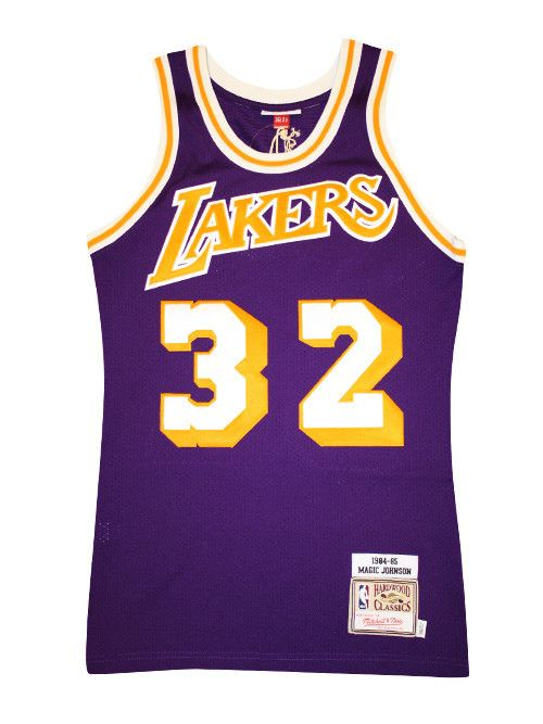 7fbcb5ab5 Los Angeles Lakers Mitchell   Ness  84-85 Authentic Magic Johnson Road     Lakers Store