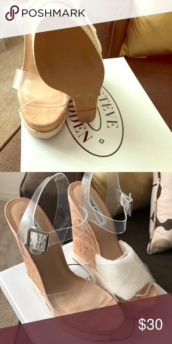 Steve Madden - Maven Clear Sandals 9.5