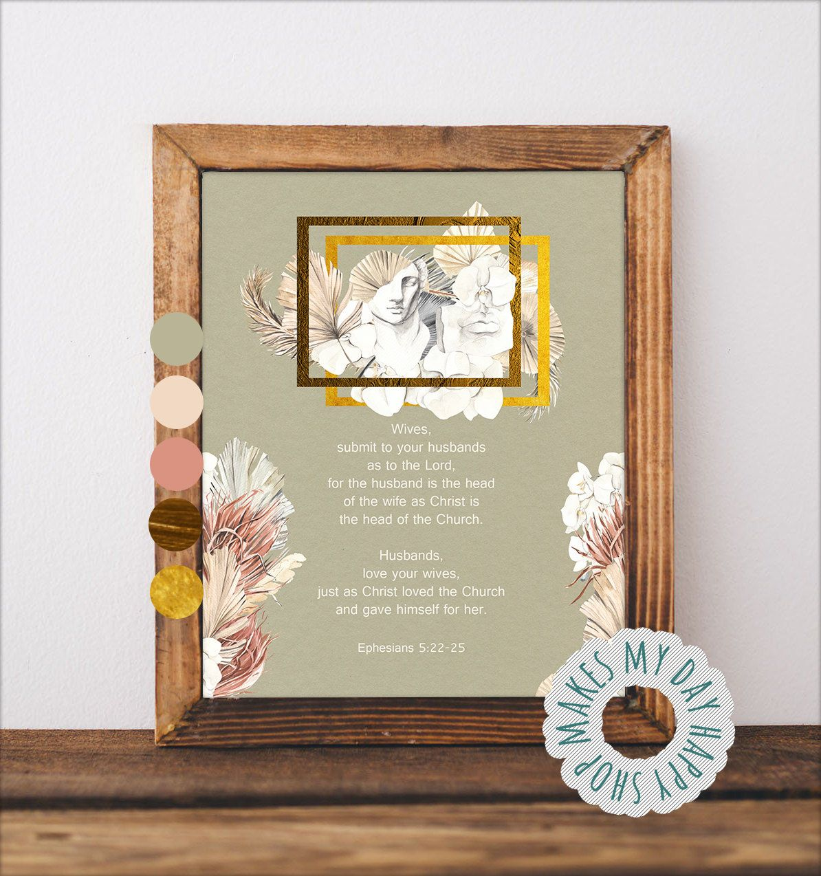 Wife and Husband quote present,Ephesians 5 print,Wedding