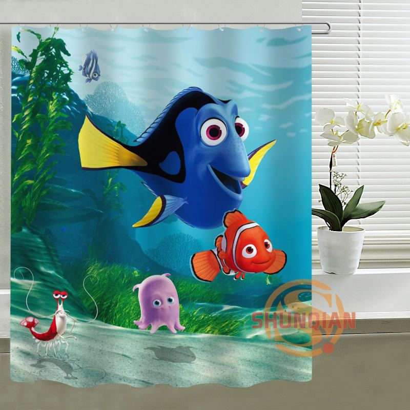 Finding Nemo Shower Curtain Personalized Custom Fabric Bath Print Your Image For Wholesale 10 Piece
