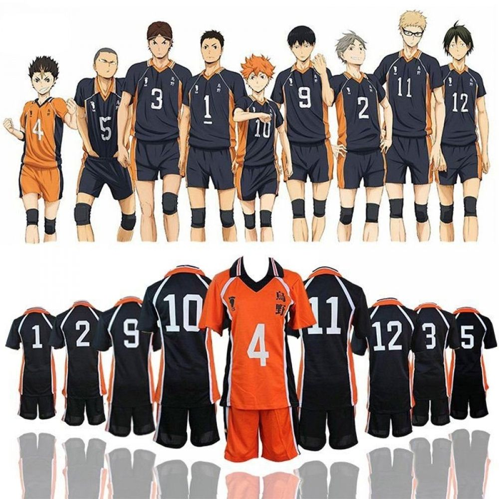 Haikyuu Karasuno Volleyball Club Uniform Nakama Store Haikyuu Cosplay Cosplay Costumes Volleyball Uniforms