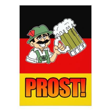 German Prost Lederhosen Man Party Invite Zazzle Com Funny