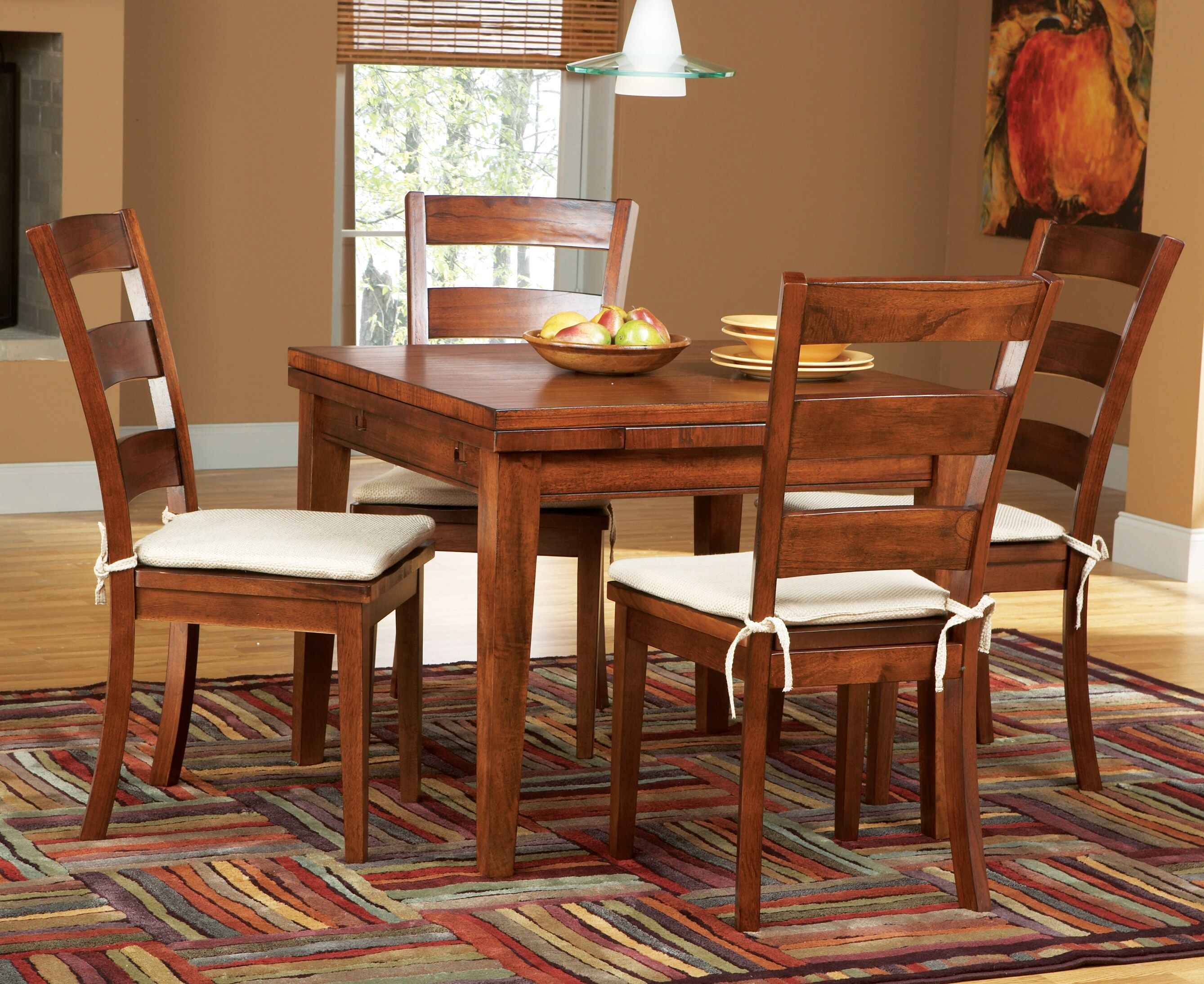 Melbourne Tobacco 5 Pc Square Dining Set - Dining Room ...