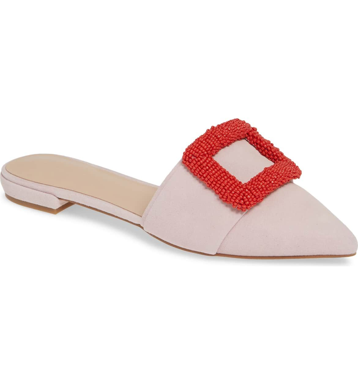 b6e08079fba SOMETHING NAVY Portia Buckle Mule, Main, color, PINK SUEDE | fashion ...