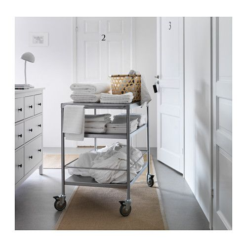 Flytta Kitchen Cart Stainless Steel 38 5 8x22 1 2 Kitchen