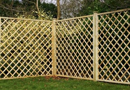 Lattice Top Fence Designs Types Of Panel Guide To Fencing Richard The Builder