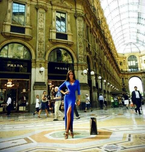 The Boutique of Prada in Galleria Vittorio Emanuele II in Milan