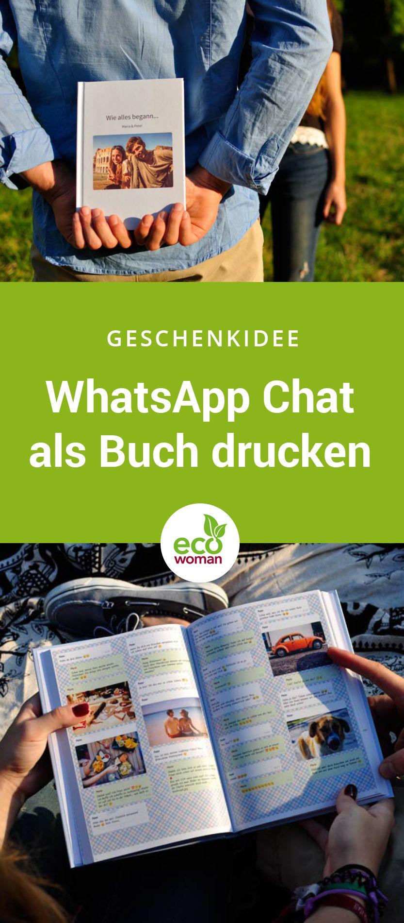 Lass euren schönsten oder witzigsten WhatsApp Chat als Buch drucken. Auch ideal als Geschenk zum Valentinstag. #whatsapp #whatsappbuch #whatsappdrucken #geschenkidee #geschenk #valentinstag